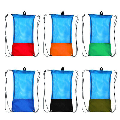 Mesh Drawstring Storage Bag Scuba Dive Diving Snorkeling Equipment Organizer