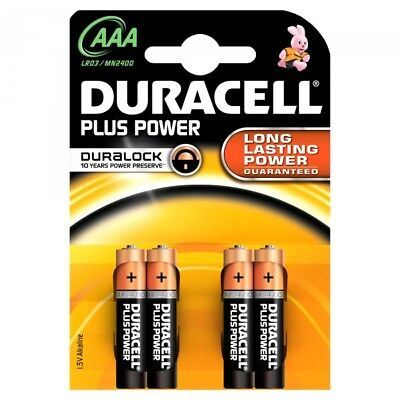 """New Duracell Aaa Size 4 Pack Plus Power Alkalne Batteries """"Mn2400B4Pp"""""""