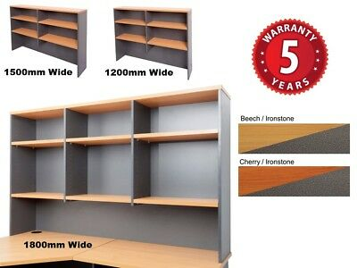 Rapid Worker Overhead Hutch Adj. Shelves 3 Sizes 2 Colours CH12 CH15 CH18 PU