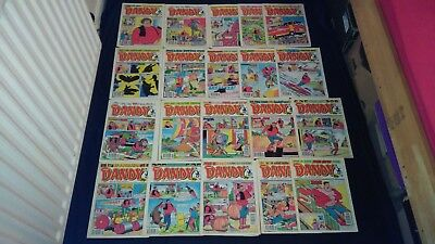 The Dandy Comic Joblot X 20 From 1990/1991  Vintage/Retro