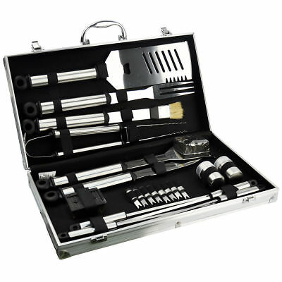 21Pcs Stainless Steel Barbecue Utensil Set Bbq Tool Camping Cutlery Garden 14032