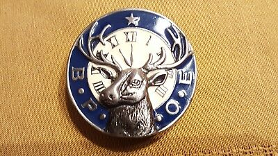 Vintage BPOE Belt Buckle Elks Club 2057