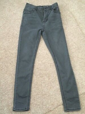 Next Jersey Soft Fabric Grey Jeans Age 12