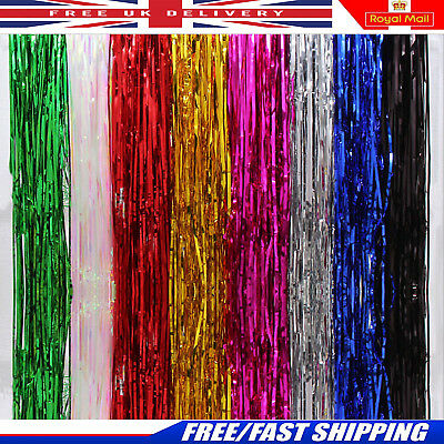 Party Door Foil Curtain Tinsel Shimmer Birthday Wedding Decorations Supplies