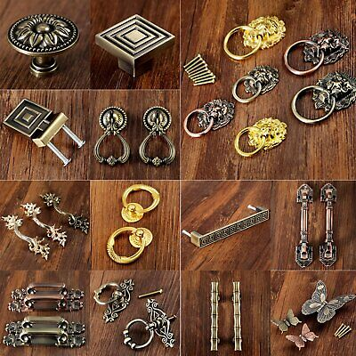 Zinc Alloy Pull Door Knobs Handles Antique Cabinet Drawer Solid Useful Handles