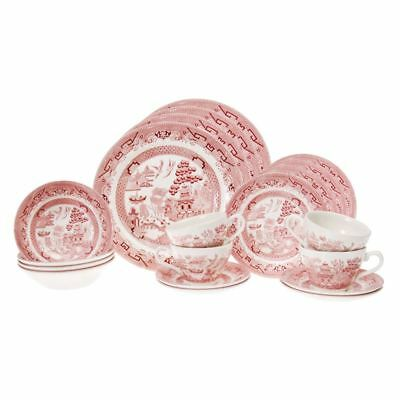 Pink Willow  by Churchill - 20pc Dinner Set (Made in England)