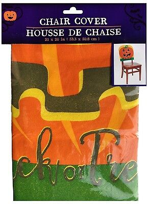 Halloween Chair Covers, Trick Or Treat Pumpkin (Set Of 2)