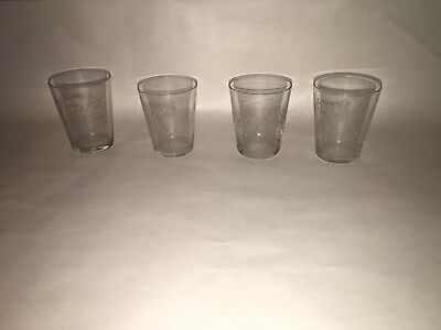 "Antique Advertising 3 Rohrers ""A"" Whiskey Shot Glass, Lancaster, PA, Detrich Lot"