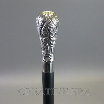 Antique Style Brass Solid Royal Imperail Handle Wooden Walking Cane Vintage Cane