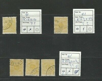 CS45 LUXEMBOURG Prifix 41 Armoirie cancelled interesting unusual perforations