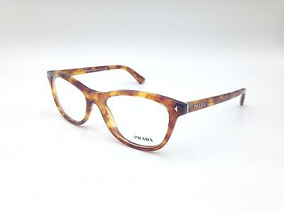 $480 PRADA WOMENS Brown Eyeglasses Framed Glasses Optical Lenses ...