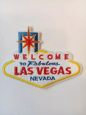 "LAS VEGAS NEVADA  Embroidered Iron On  Patch. 3""x 3"" FABULOUS 4"" x 3"""
