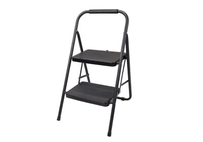 Ladder 2 Tread Step Home Business Office Equipment Black 150kg Capacity 3.86 Kg