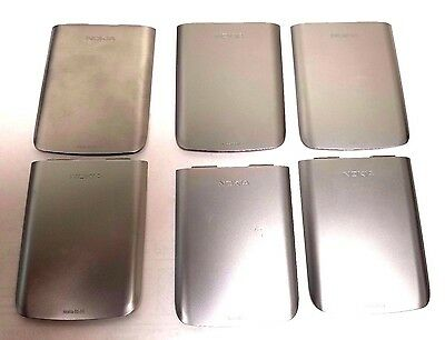 6 Lot Nokia E6-00 Battery Door Back Cover Housing Case Silver Wholesale