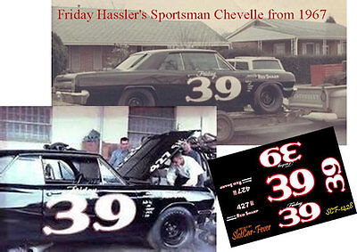 CD_1428 #39 Friday Hassler 1965 Chevelle   1:25 Scale Decals