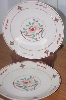 Fine Pair Of Japanese Hand Painted Plats Marked