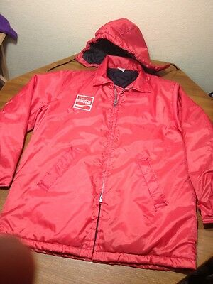 Rare Vtg Official Coca-Cola Employee Jacket Coat Coke Original Classic Large