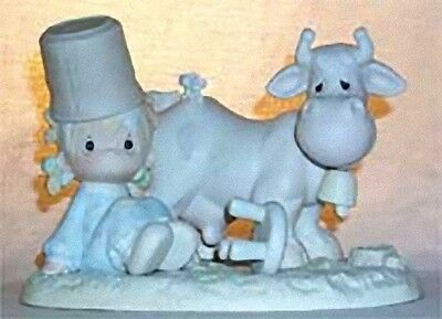 Precious Moments I Get A Kick Out of You E-2827 V$210  Cow Girl with Bucket