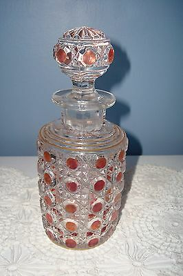 ANTIQUE Baccarat  RUBY RED PERFUME BOTTLE~BEAUTIFUL & NUMBERED