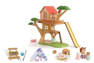 Calico Critters Dollhouse Tree House Animal Play Set Chipmunk Kids Toy 65 Pc NEW