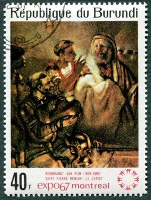 BURUNDI 1967 40f SG323 used FG NH World Fair Montreal Paintings Rembrandt a1