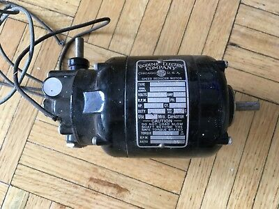 Used Bodine Electric Co. NYC-12R Speed Reducer Motor 1/150 HP 1800RPM .22A