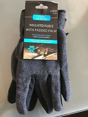 Cordova Cold Weather Size Large Insulated Fleece w/Padded Palm Gloves