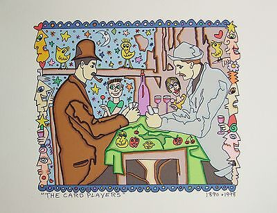 James Rizzi The Card Players - Farblithografie