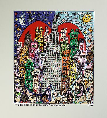 James Rizzi The big Apple is on the Empire State Building - Farblithografie