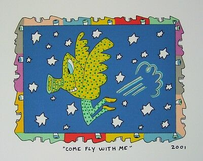 James Rizzi Come Fly With Me - Farblithografie