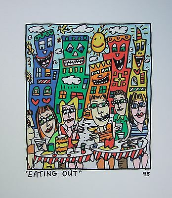 James Rizzi Eating out - Farblithografie