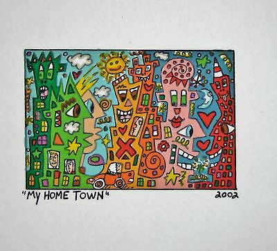 James Rizzi My Home Town - Farblithografie