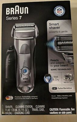 Braun Series 7 7898cc Cordless Electric Wet & Dry Rechargeable Men's Shaver -NEW