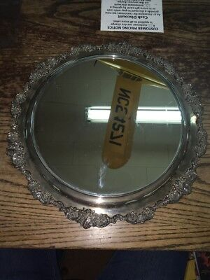 """Antique,vintage,?,Baroque by Wallace,700,Silver-plated,wall Mirror,nr,16"""""""