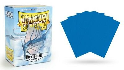 Dragon Shield Mat Sky Blue 100 Protective Sleeves Cases Standard Card Holder