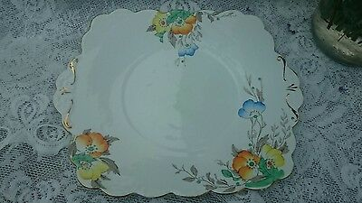 "VINTAGE E BRAIN FOLEY CHINA 9.5"" CAKE/BREAD & BUTTER PLATE - Excellent Condition"