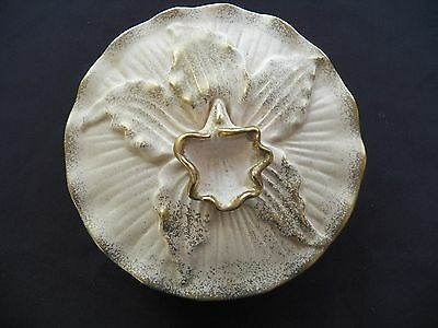California Pottery Orchid Dish (71015-1181) vintage pottery, collectibles