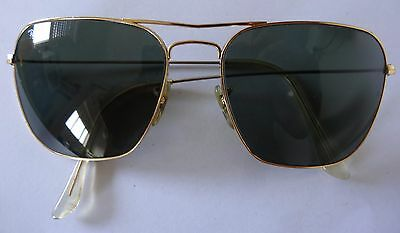 4b1649e999c Vintage signed Bausch   Lomb B L made USA Ray Ban AVIATOR Sunglasses FRAME  ...