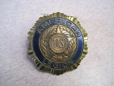 Vintage American Legion Car Radiator Emblem Badge License Plate Topper bracket