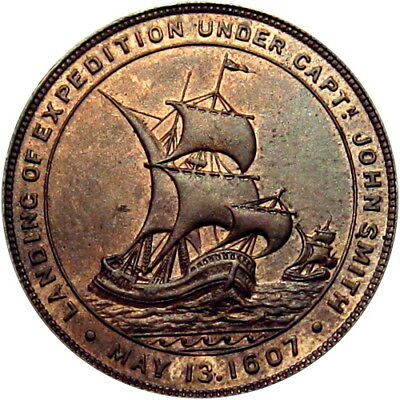 1907 Jamestown Virginia Exposition So-Called Dollar Sailing Ship HK-346
