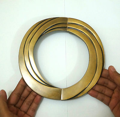"6.61"" Set Vintage Round Retro Swirl Solid Brass Cabinet Drawer Handle Ring Pull"