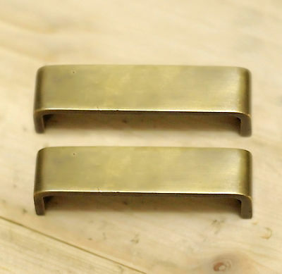 Set of 2 pcs RETRO Vintage CLOSETS Bar End Antique Solid Brass Drawer Pull Knobs