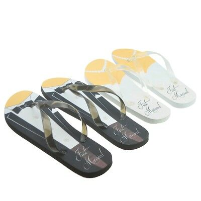 His And Hers Just Married Flip Flops Wedding Gift Honeymoon