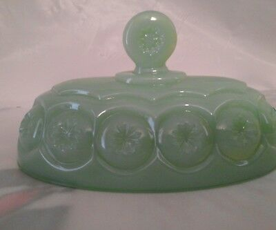 Weishar   Moon & Star Jade Green Glass butter lid
