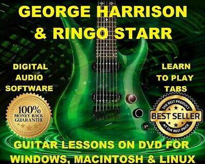 George Harrison 125 & Ringo Starr 67 Guitar Tabs Software Lesson CD & 41 BT