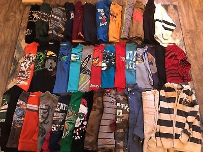39 Pc Lot Boys Size 4 4T 5 T Shirts Sweatshirts Vests Winter Spring Fall Clothes