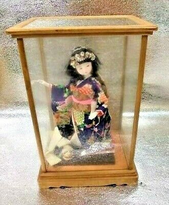Japanese Traditional Doll Kimono with Stand, Mini Lion Dance EMS Free from Japan