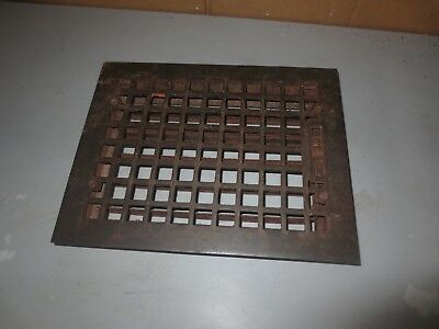 Antique Cast Iron and Steel Floor Heat Register Vent Old Hardware 9 x 12