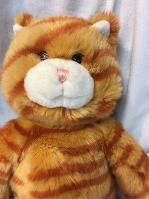 Build a Bear Workshop Orange Striped Calico Cat Stuffed 16 Inch