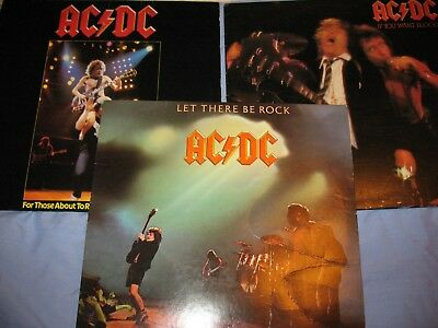 Ac/dc Lp Lot - Let There Be Rock - If You Want Blood - For Those About To Rock